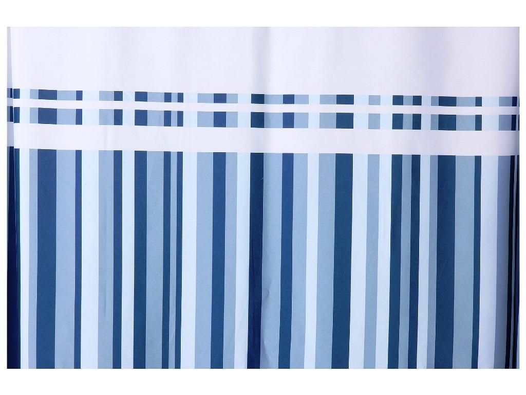 Image of: Striped Shower Curtain Navy
