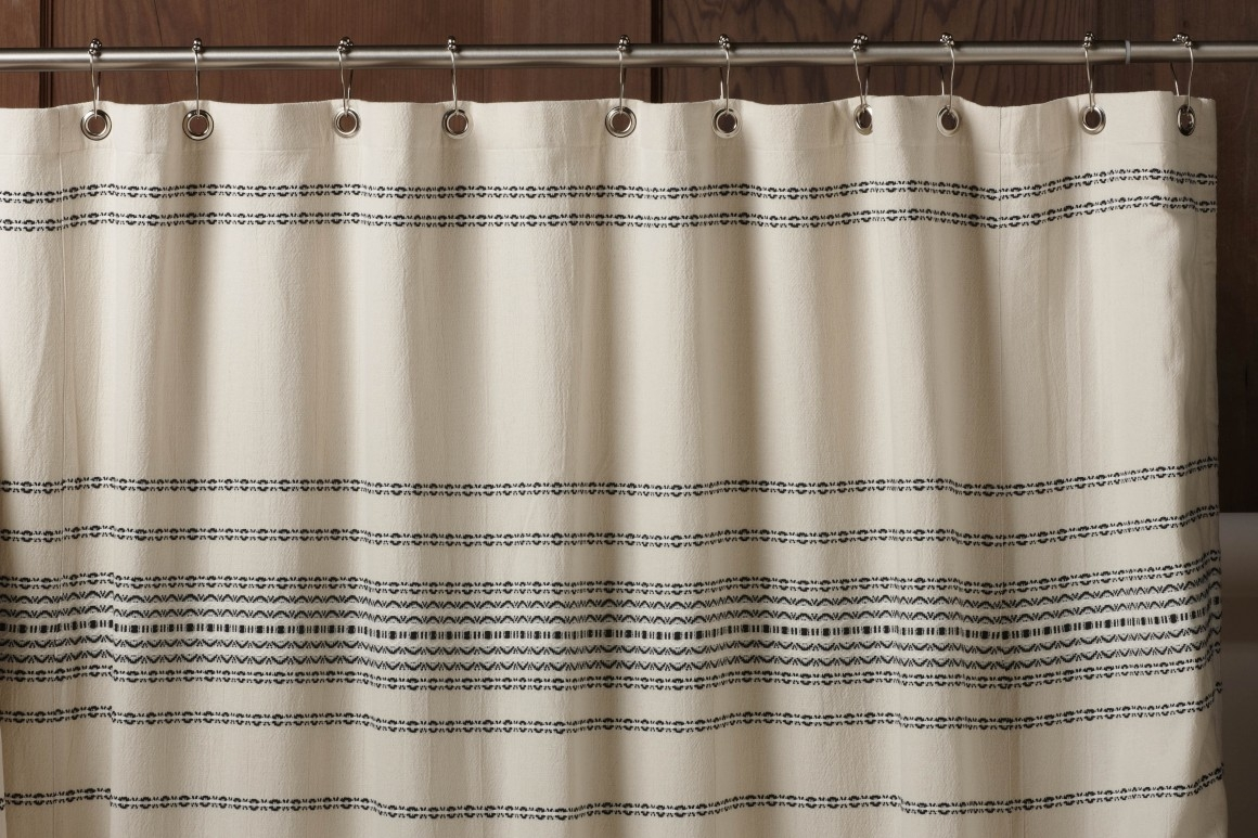 Image of: Striped Shower Curtain Vintage