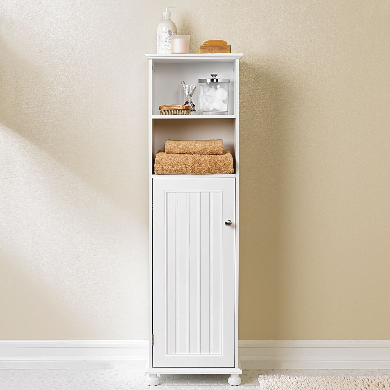 Image of: Tall and Small Bathroom Storage Ideas