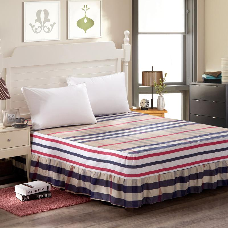 Image of: Teen Striped Bed Skirt