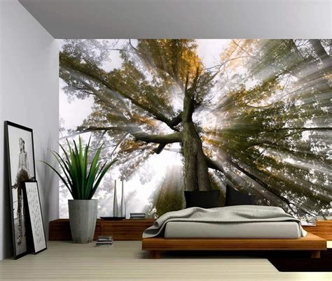 Image of: Trees Peel and Stick Wall Panels