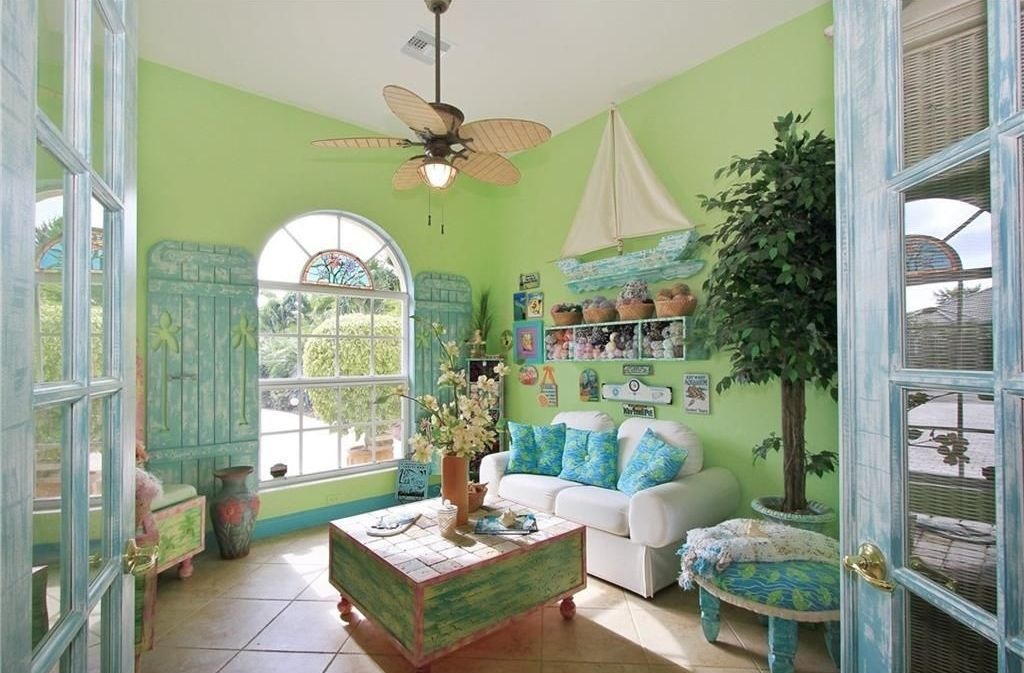 Image of: Tropical Living Room Green