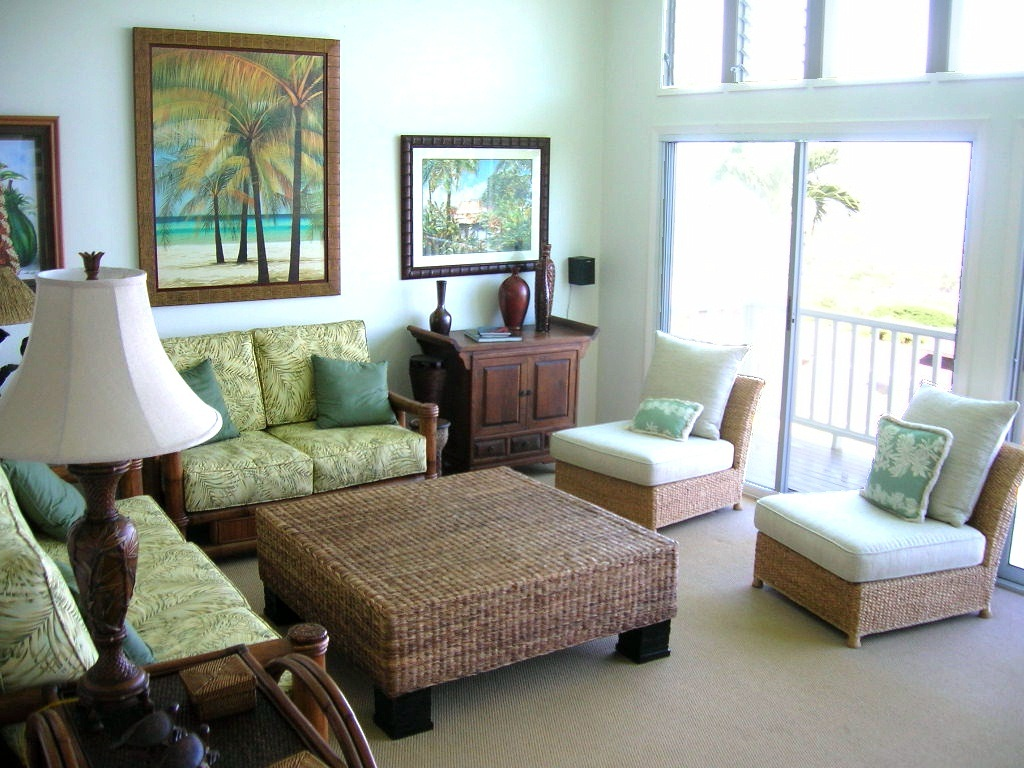 Image of: Tropical Living Room Model
