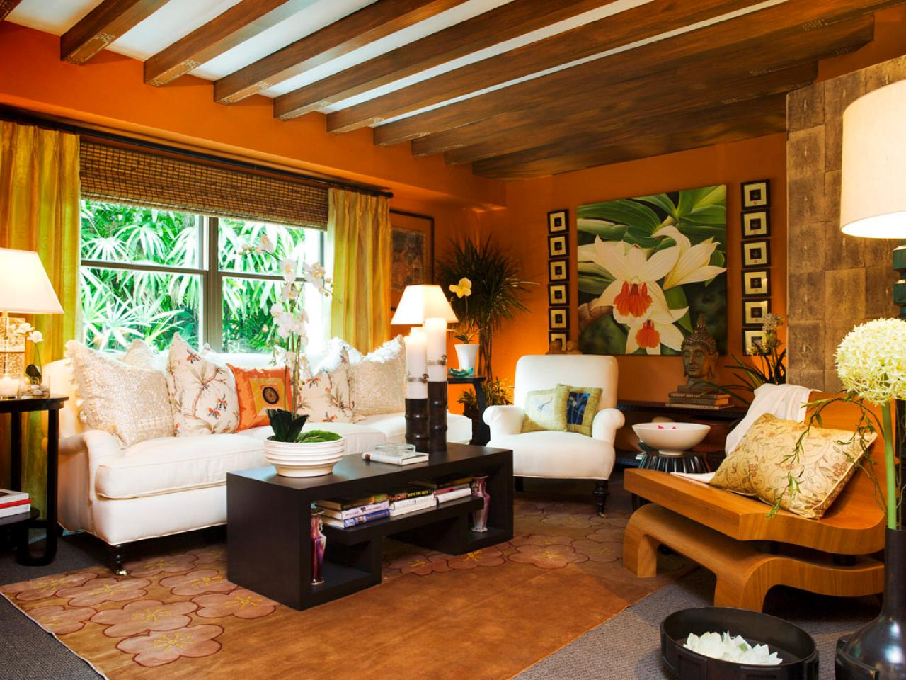 Image of: Tropical Living Room Vintage