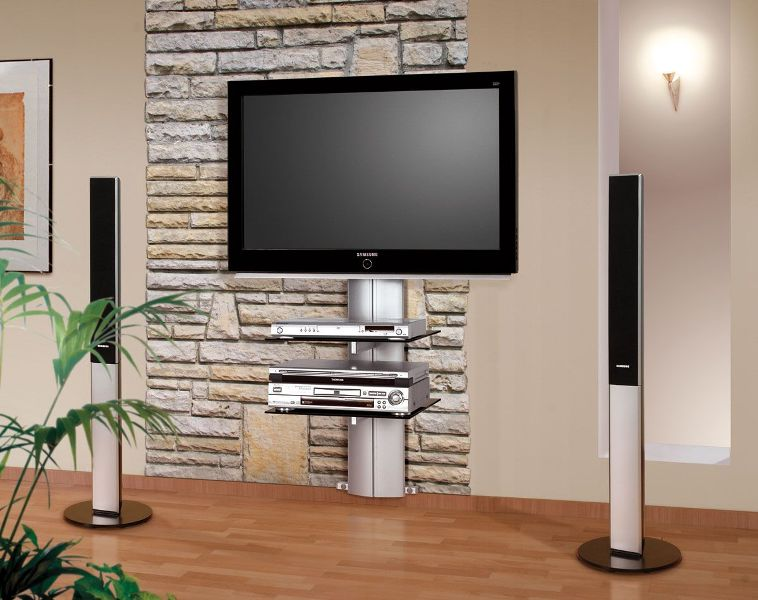 Image of: Tv Wall Panel Stand