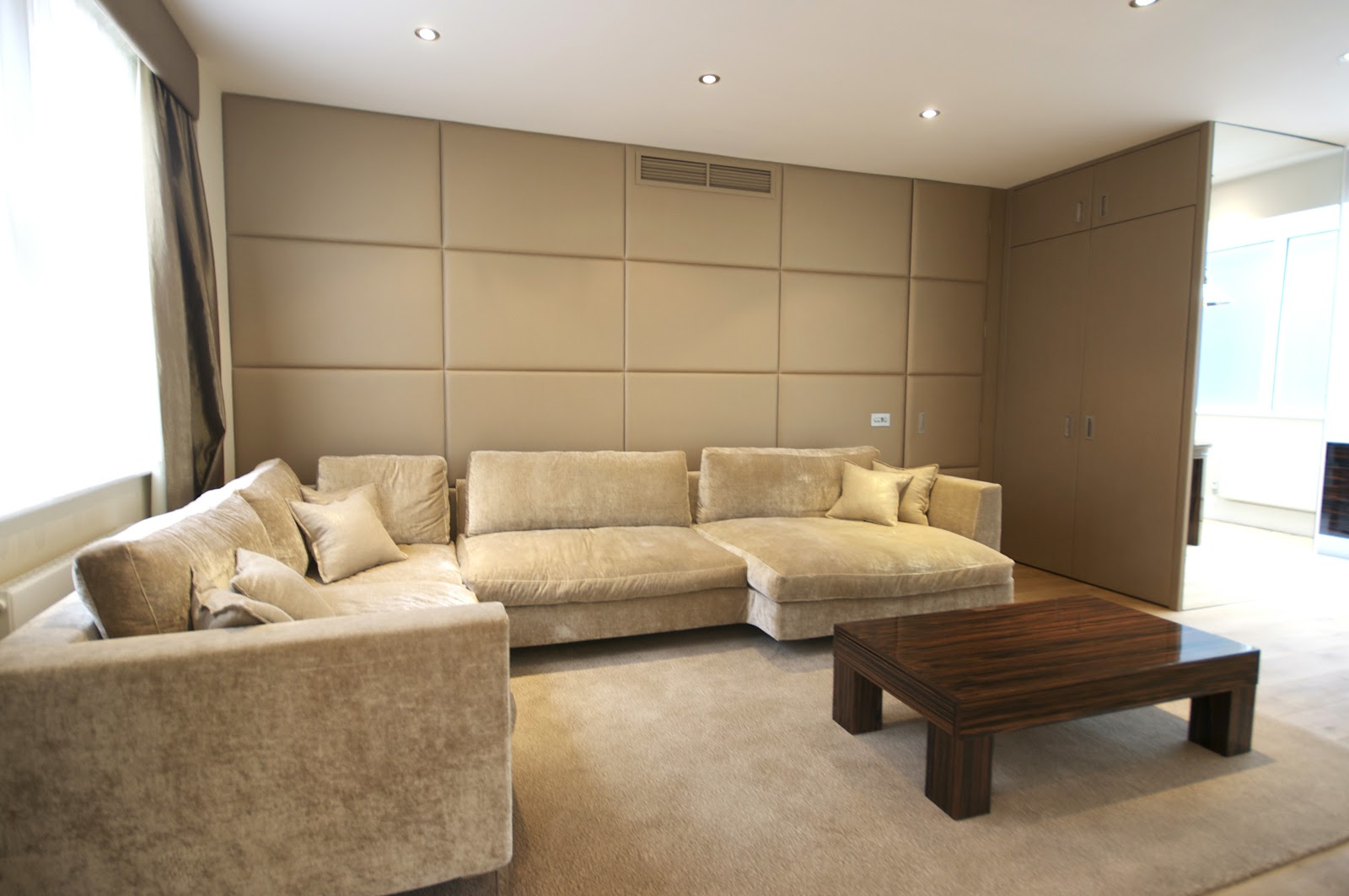 Image of: Upholstered Wall Panels Fabric