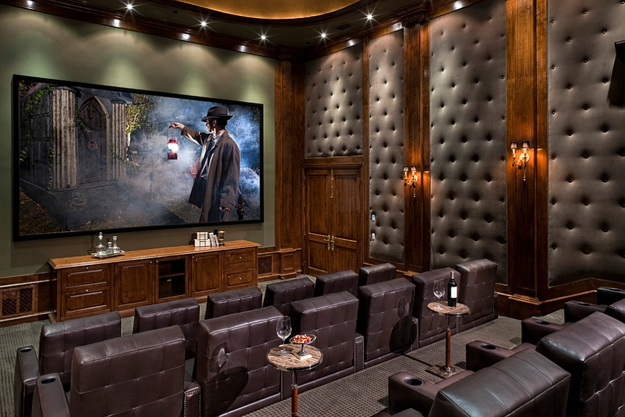 Image of: Upholstered Wall Panels Home Theater