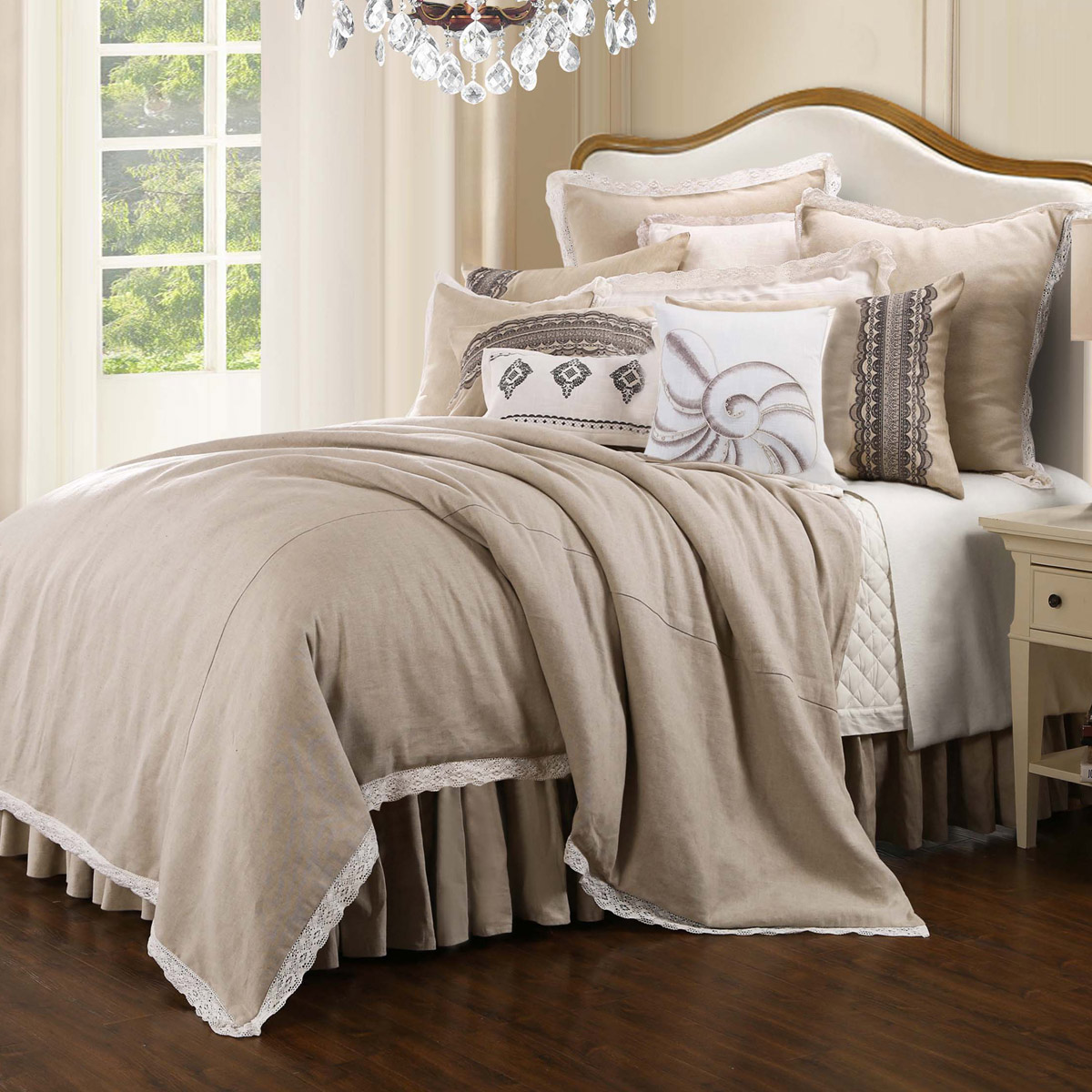 Image of: Use Burlap Bed Skirt