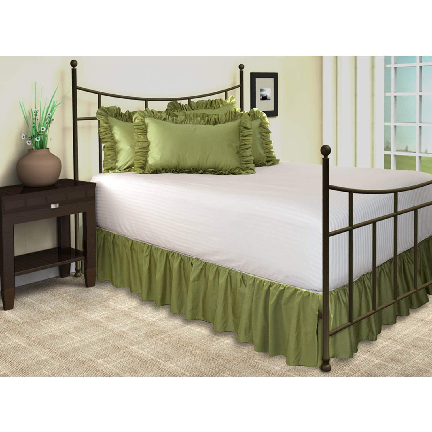 Use Green Bed Skirt