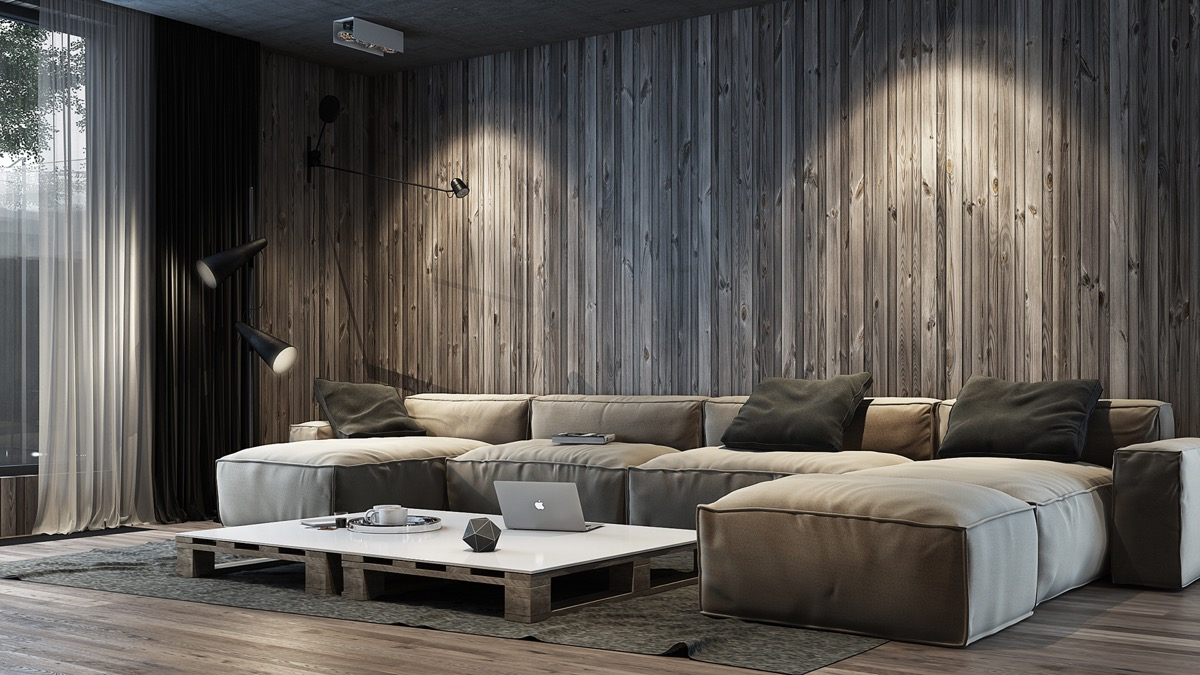 Image of: Vertical Wood Wall Panels