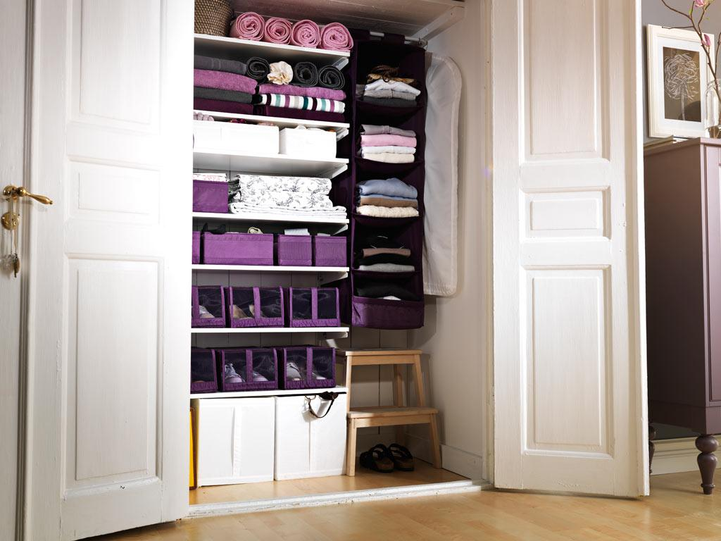 Violet Clothes Storage Ideas