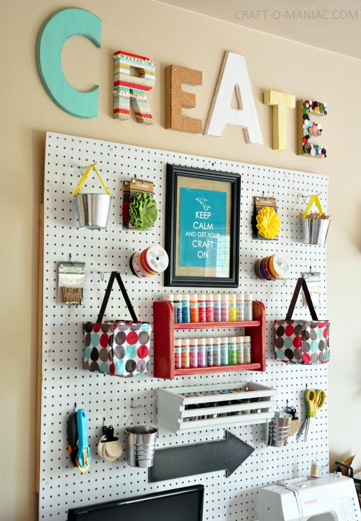 Image of: Wall Art Supply Storage Ideas