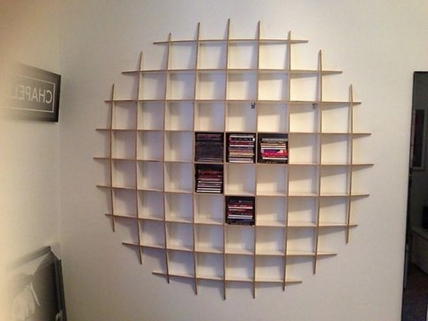 Image of: Wall CD Storage Ideas
