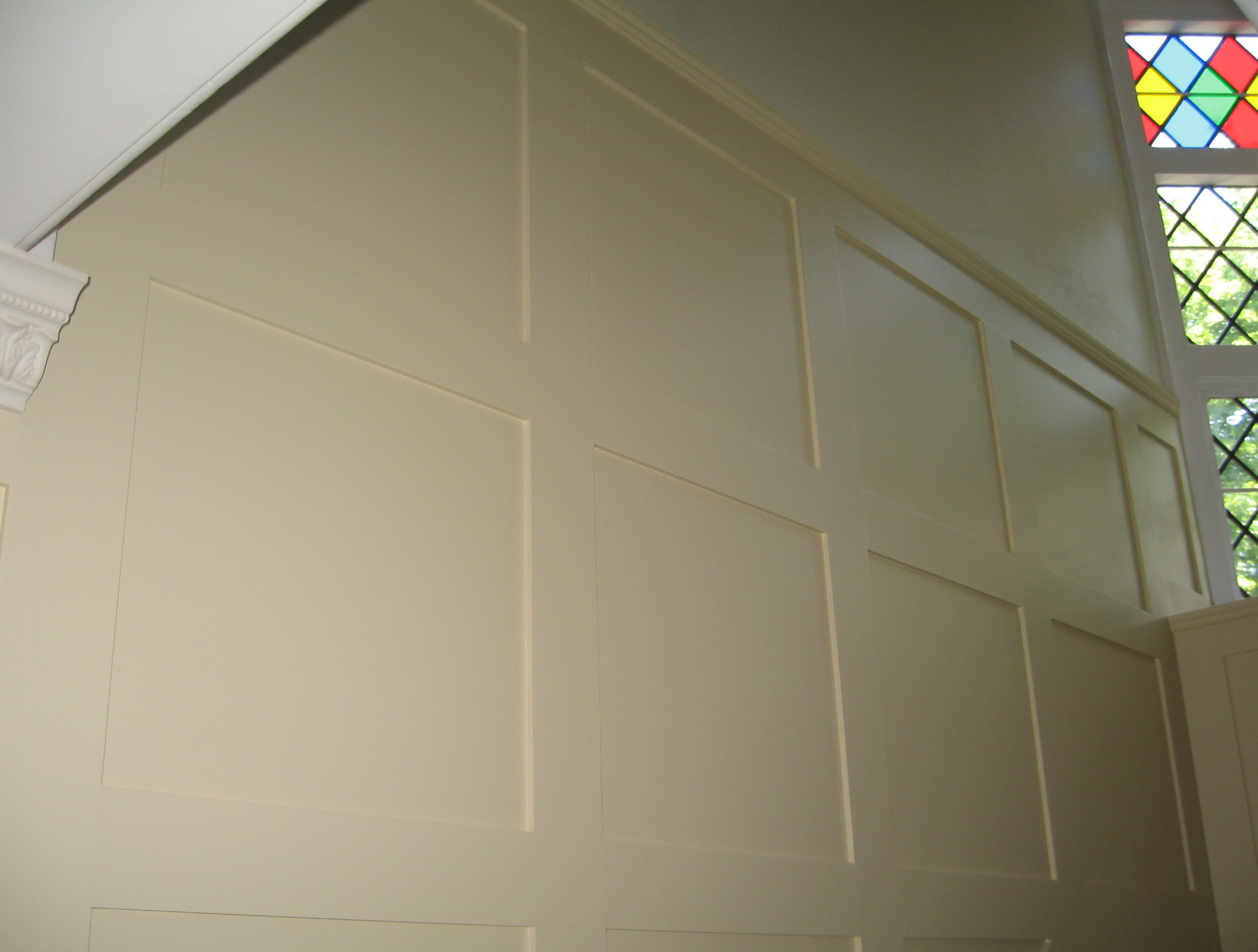 Image of: Wall Panels Painted