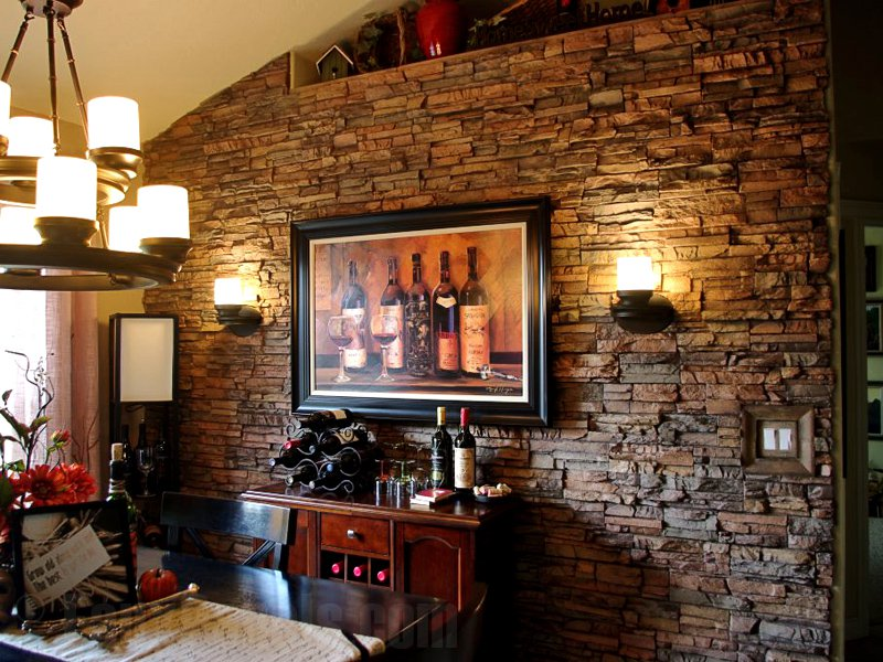 Image of: Warm Faux Wall Panels