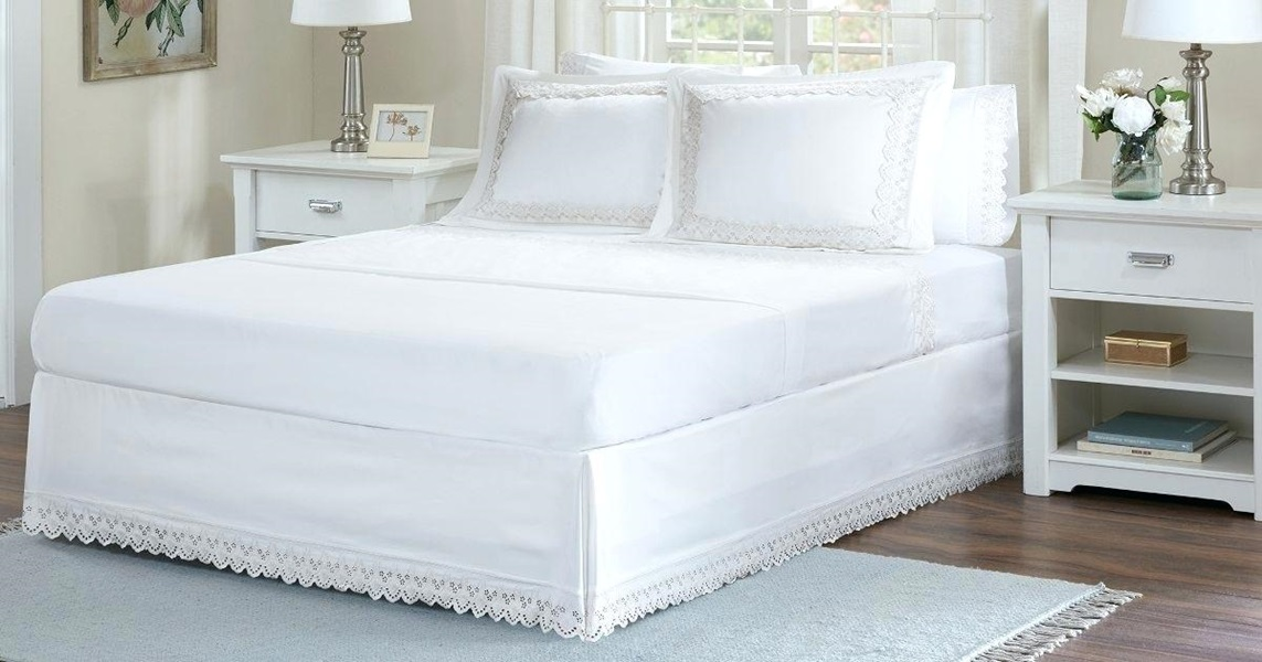 Image of: White Bed Skirt Alternatives