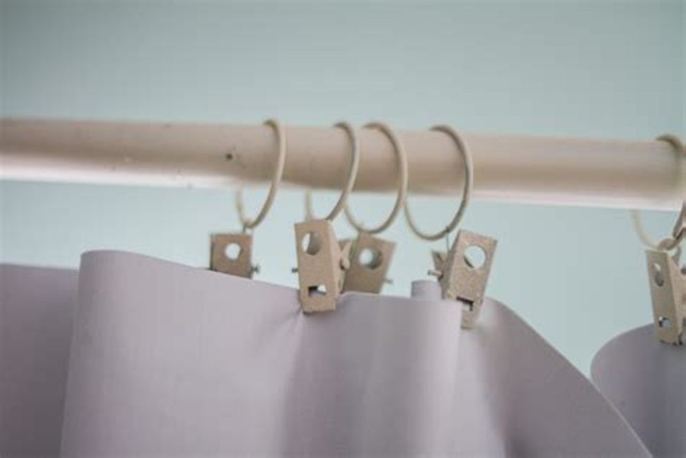 Image of: White Curtain Rod Detail
