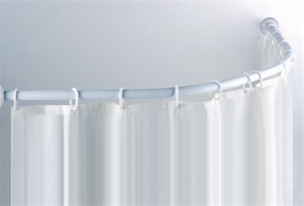 Image of: White Curtain Rod Small