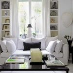 White Living Room Curtains Decor