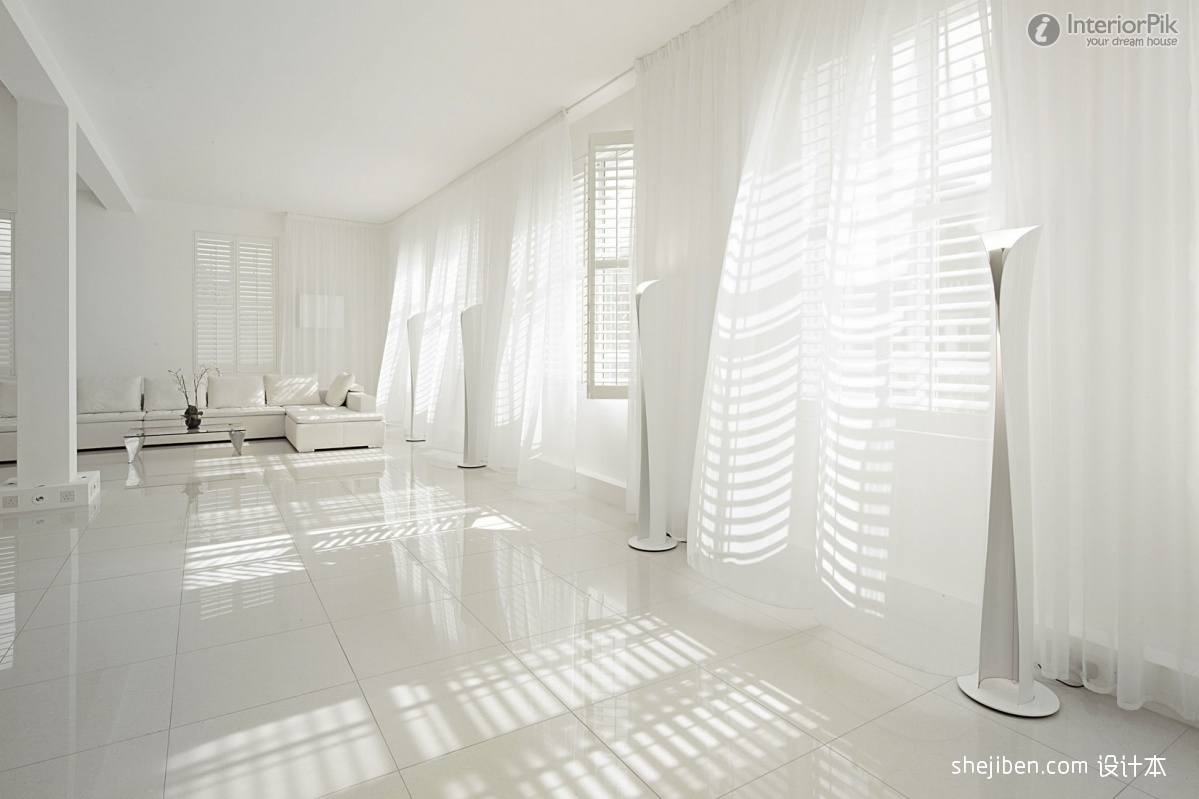 Image of: White Living Room Curtains Ideas
