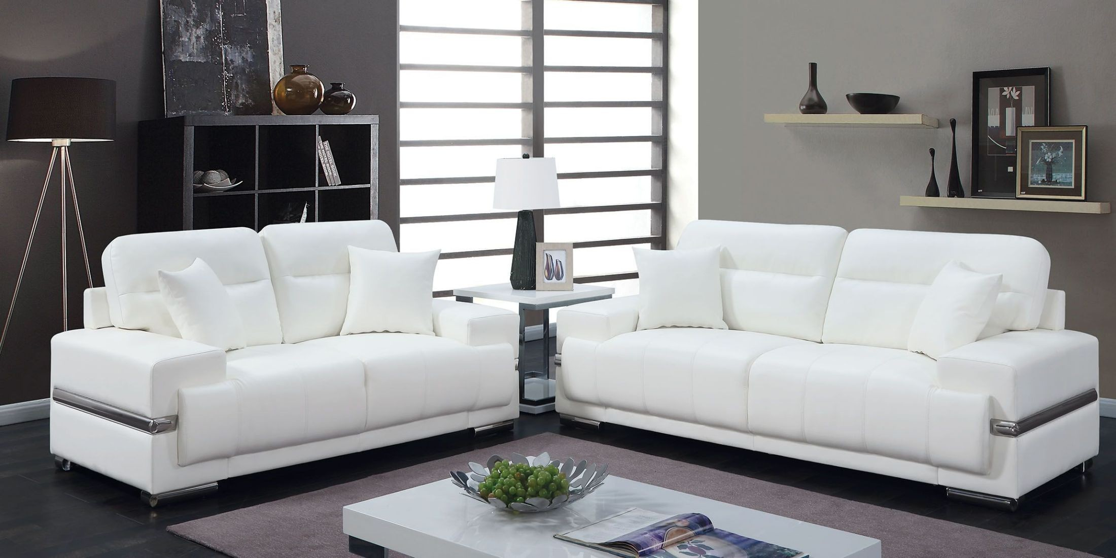 Image of: White Living Room Furniture Sets Awesome