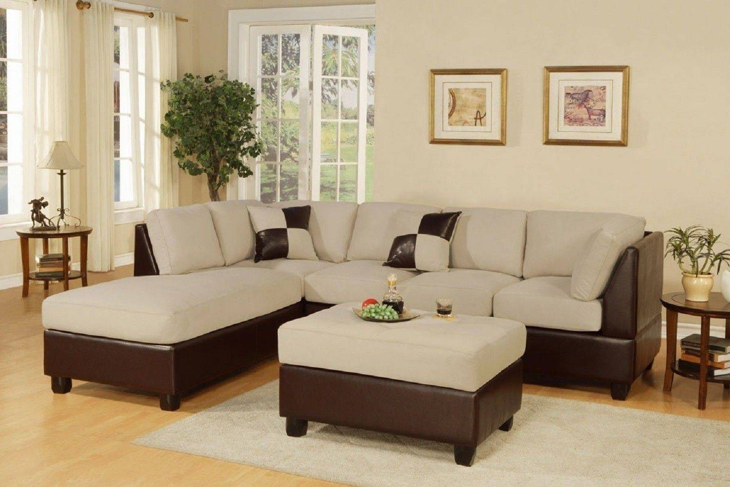 White Living Room Furniture Sets Brown