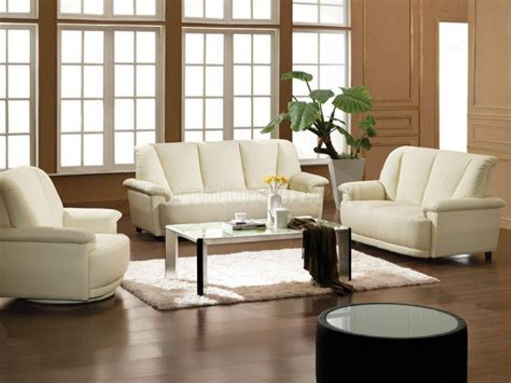 Image of: White Living Room Furniture Sets Simple