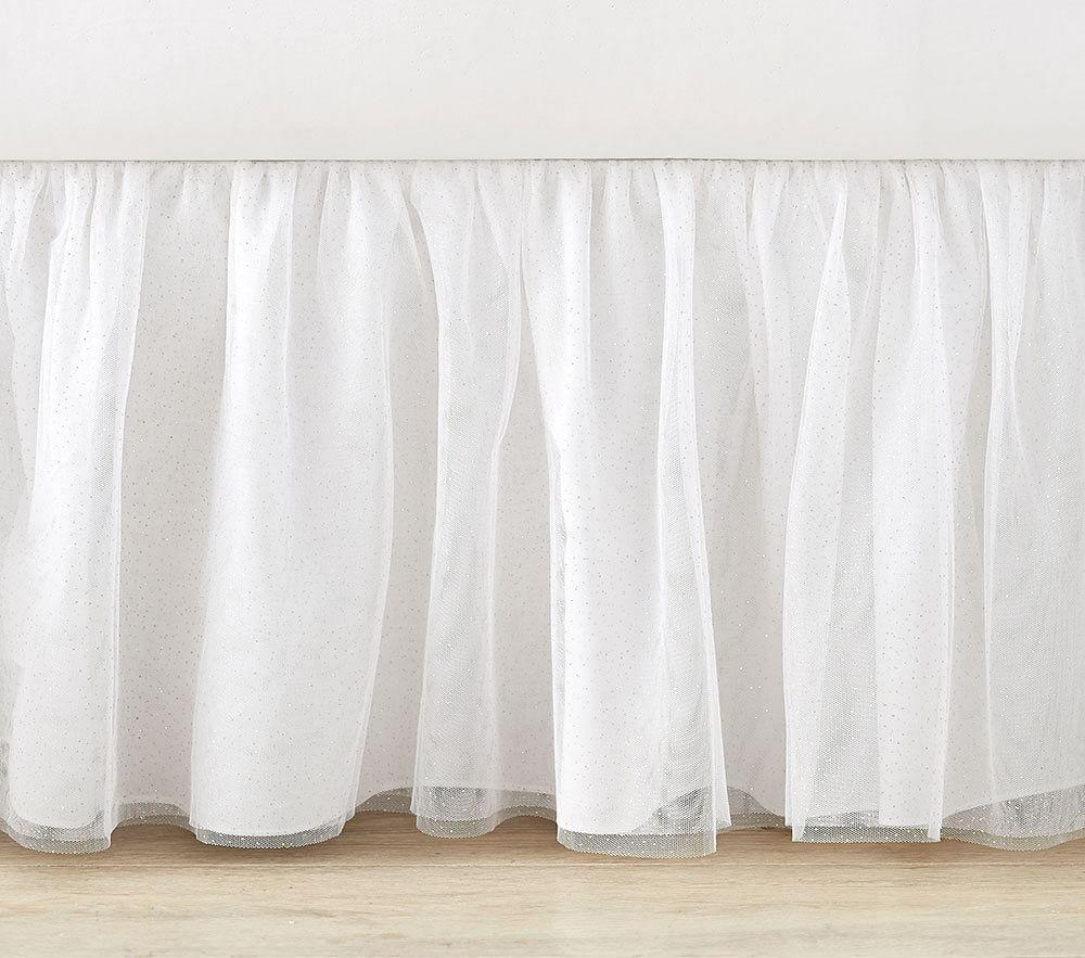 White Tulle Bed Skirt