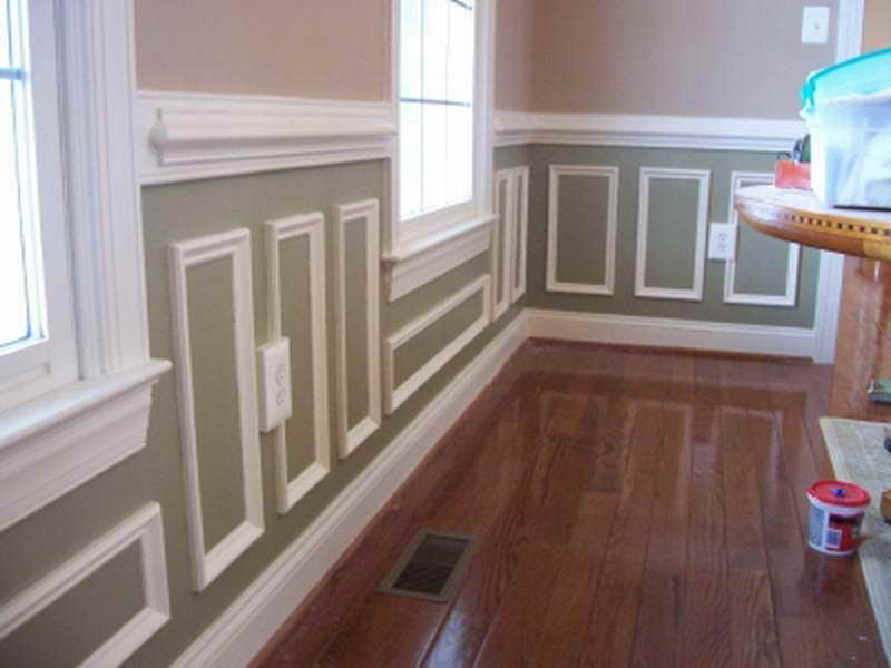 Image of: White Wall Paneling Paint