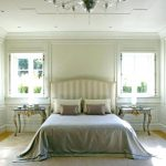 White Wall Paneling Room