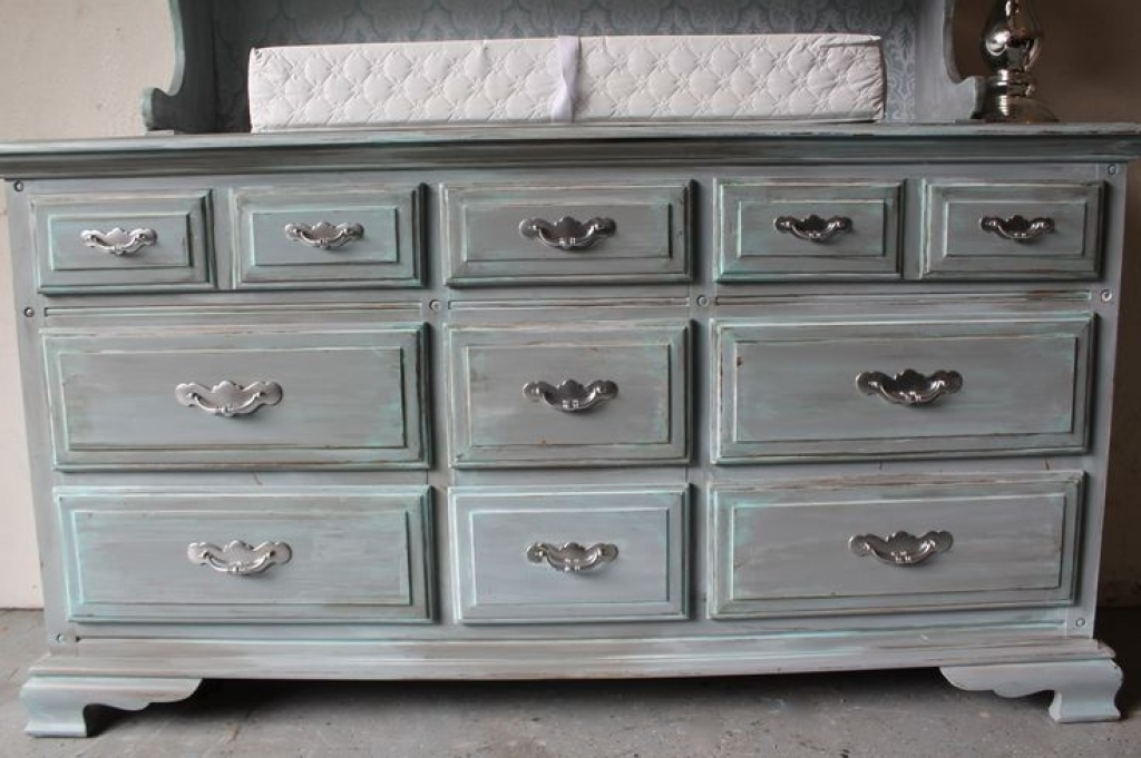 Wonderful Antique Grey Dresser