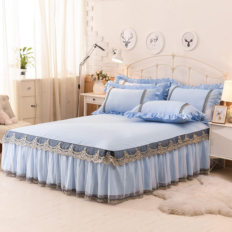 Image of: Wonderful Lace Bed Skirt Ideas
