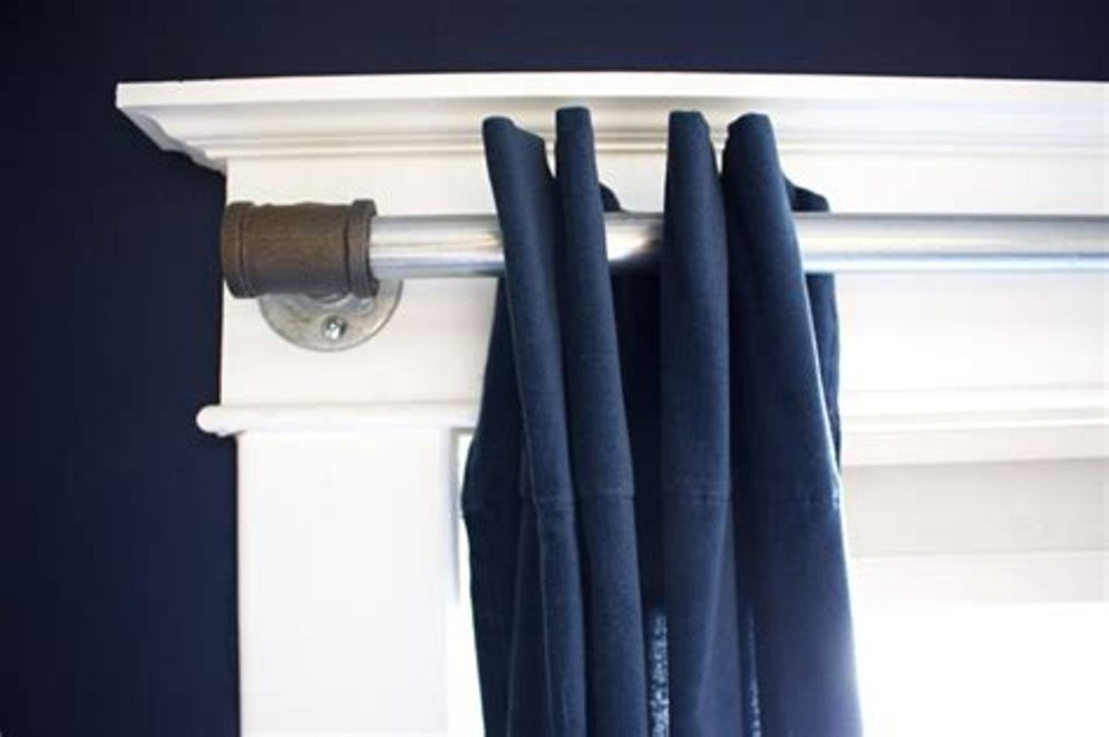 Wraparound Curtain Rod Blue