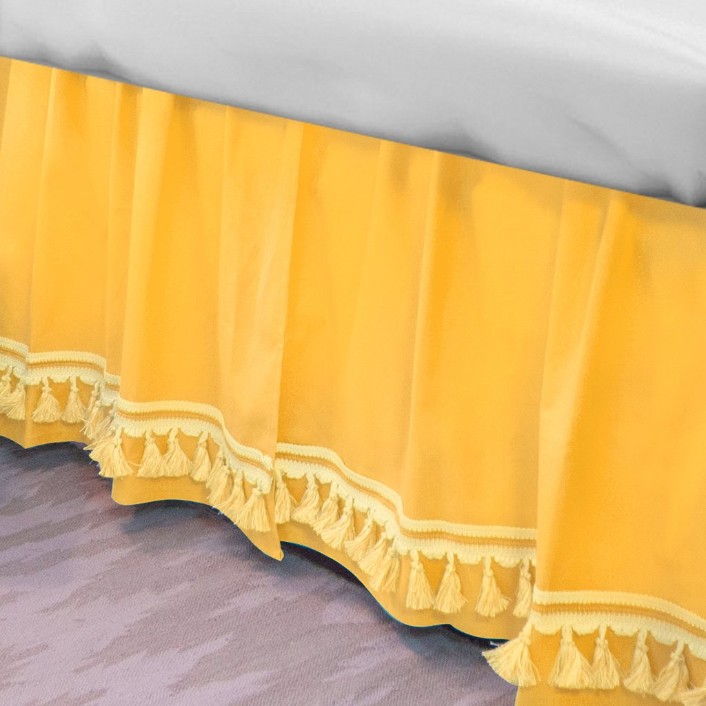 Image of: Yellow Bed Skirt Ideas