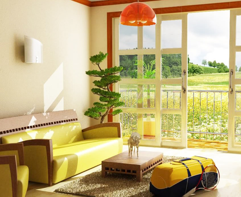 Image of: Yellow Living Room Nature