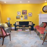 Yellow Living Room Vintage