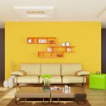 Yellow Living Room Wood