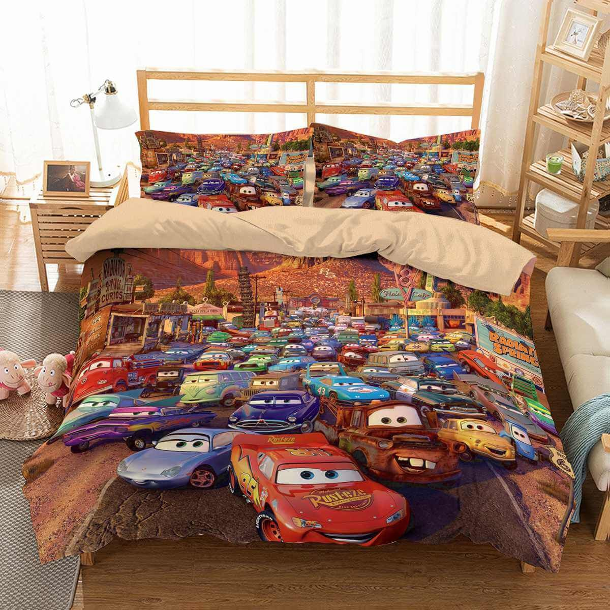 3D Cars Toddler Bed Set