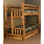 Aspen Log Rustic Bunk Beds