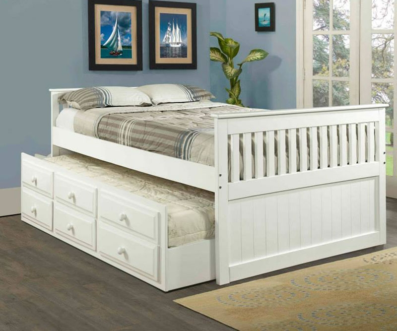Image of: Awesome Full Bed with Trundle
