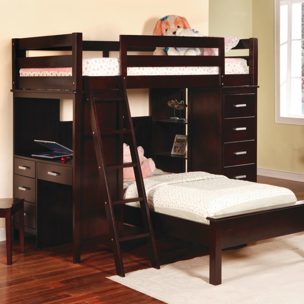 Image of: Awesome Wooden Loft Bed