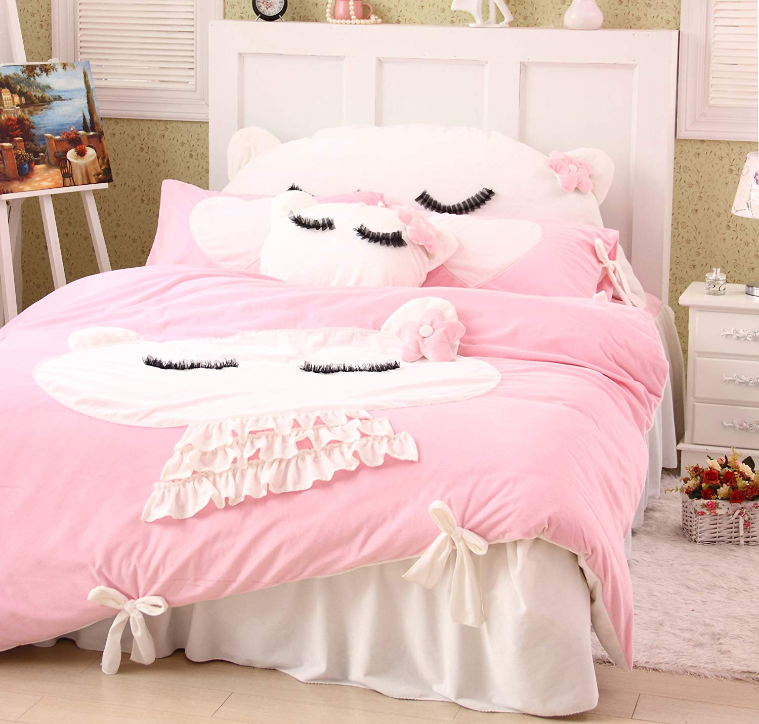 Image of: Beautiful Cat Bedding Sets