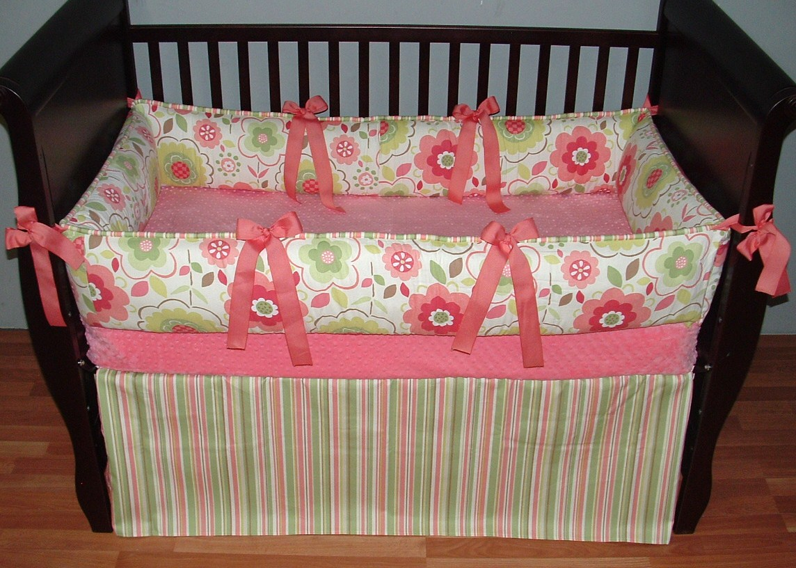 Image of: Beautiful Coral Baby Bedding