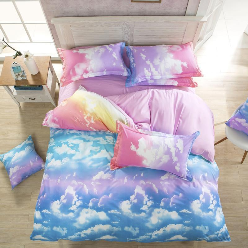 Image of: Beauty Cloud Bedding Set