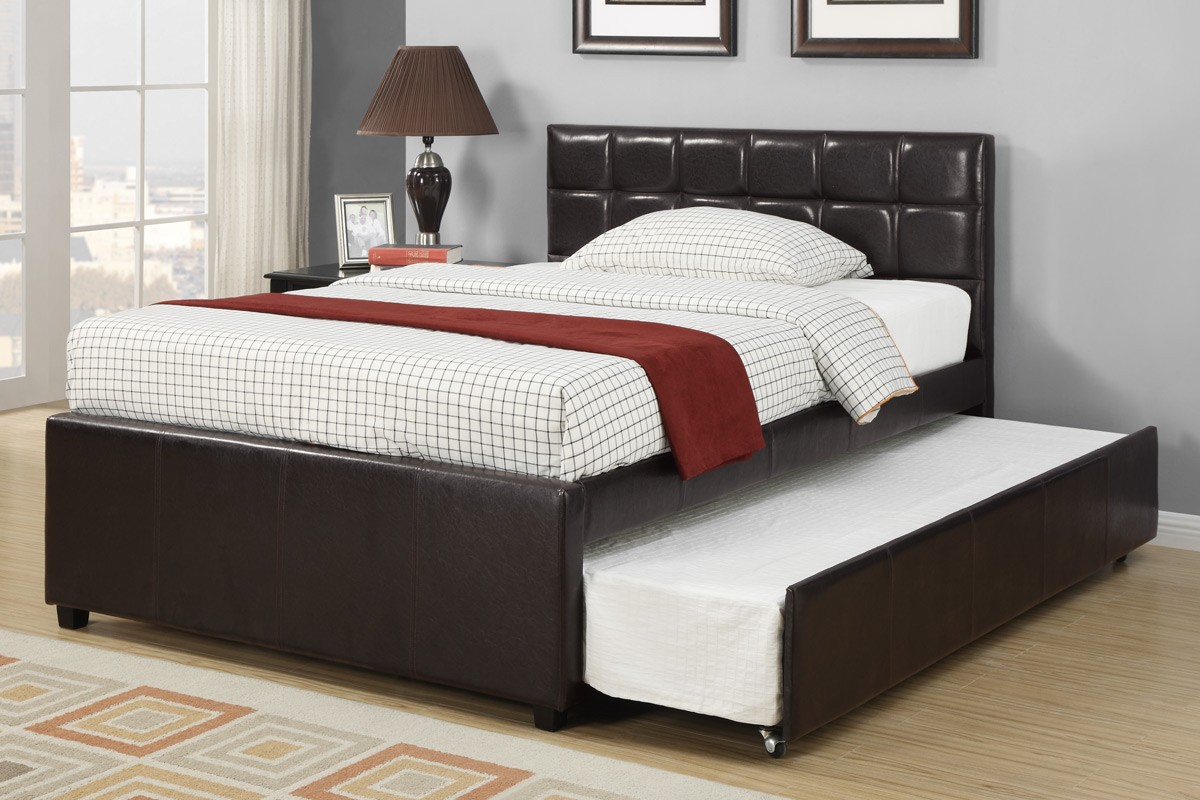 Image of: Bed Frame With Trundle Black