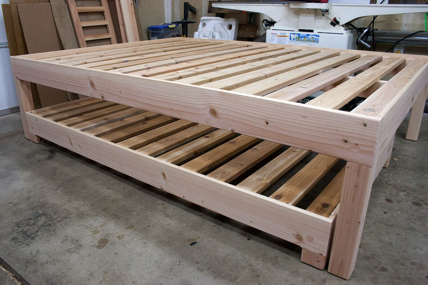 Image of: Bed Frame With Trundle Queen