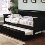 Bed With Trundle Black