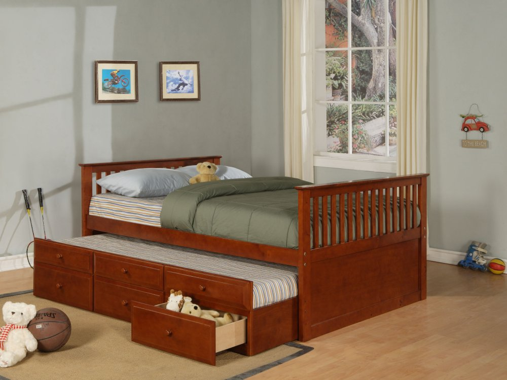 Image of: Bed With Trundle Brown