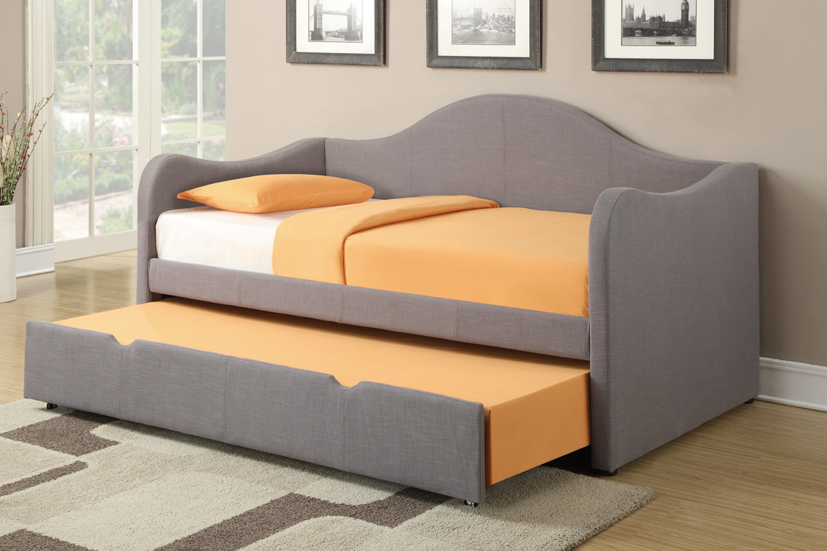 Image of: Bed With Trundle Fabric
