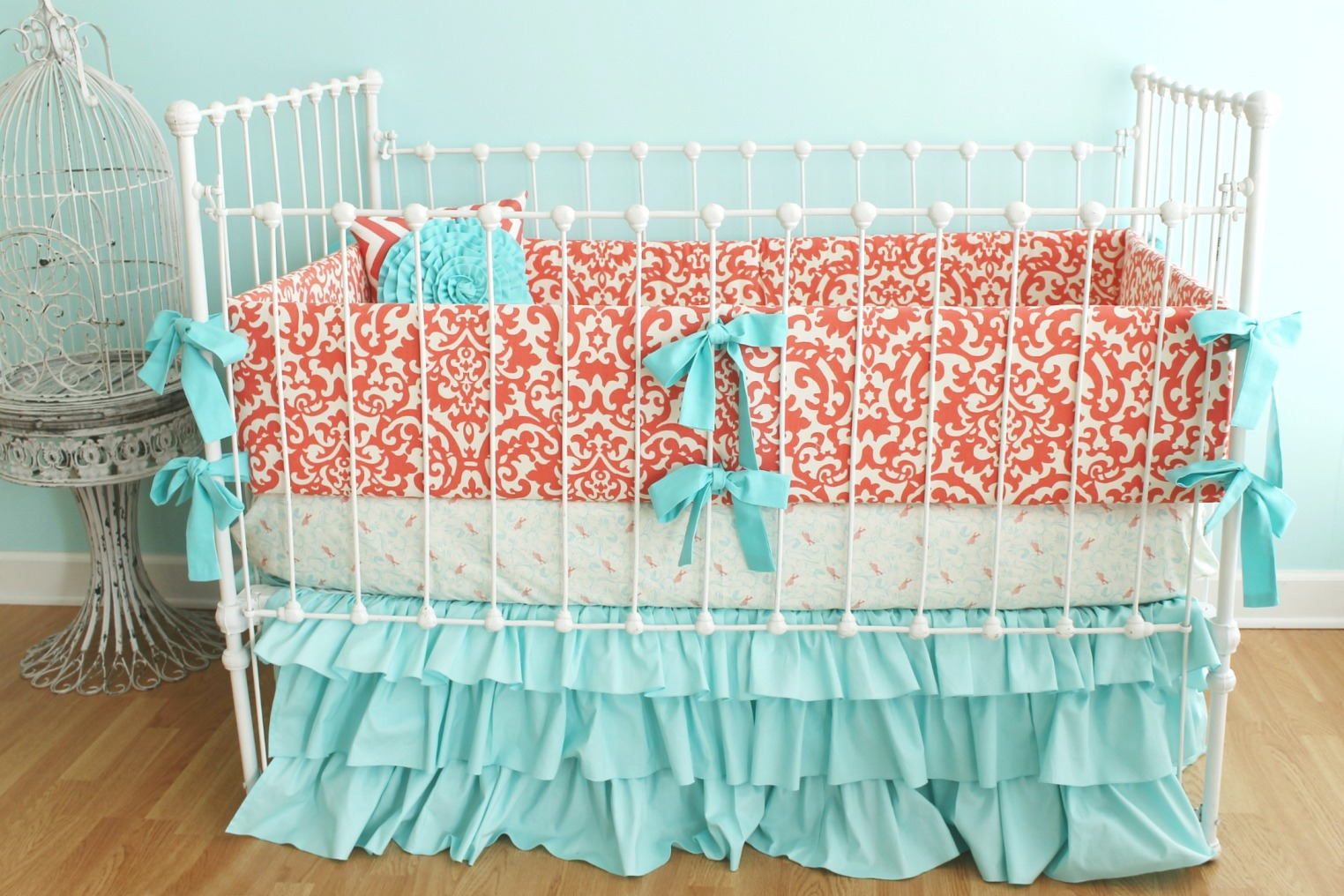 Image of: Best Coral Baby Bedding